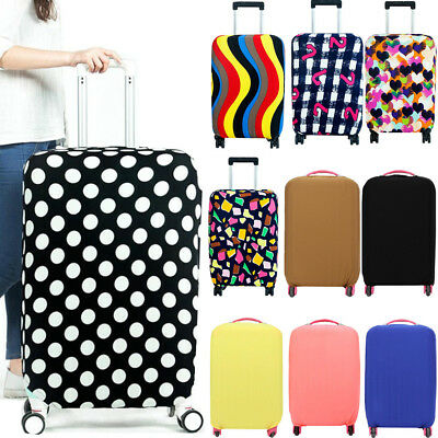 Pure/Print Travel Luggage Cover Protector Elastic Seersucker Suitcase Dust-Proof