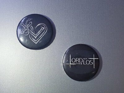 Lord of the Lost LOTL Button Pin 2 Stück