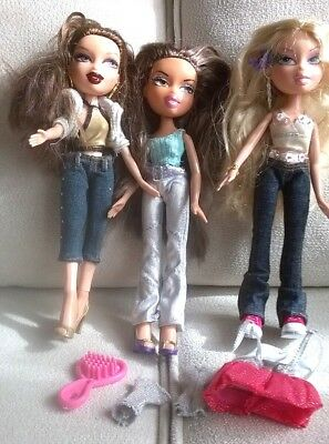 BRATZ Dolls Bundle of Three with clothes and accessories