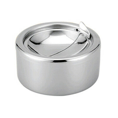 Stainless Steel Windproof Ashtray with Lid Cigarette Ashtray Smoking Ash Tray