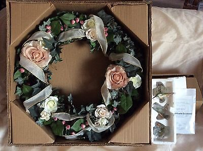 The Bradford Editions-Garden Jewels Welcome Wreath- Signed Numbered w/COA in Box