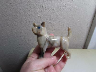 Chihuahua, Solid stone Hand carved Marble from Andes of Peru  Unique Chihuahua