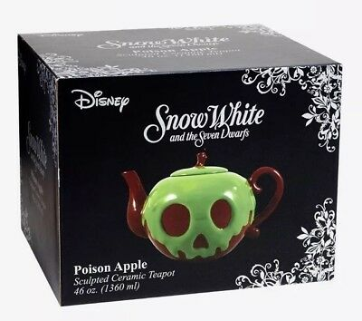Disney Snow White & The Seven Dwarfs Poison Apple Ceramic 46oz. Teapot NIB!