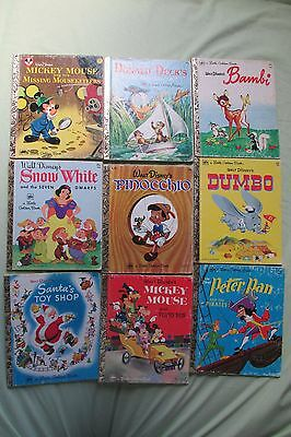 Vintage 600mS Little Golden Libro Lotto Mickey ~Paperino~ Bambi ~ Babbo Natale ~