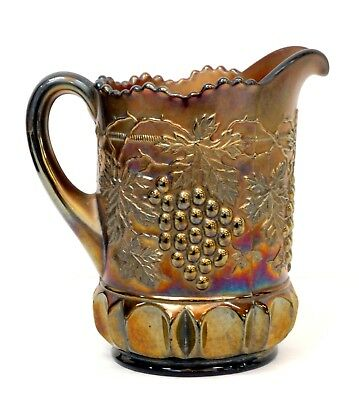 Vintage Northwood Grape & Cable Carnival Glass Pitcher