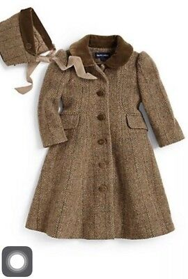 Brand New Beautiful Ralph Lauren Tweed Wool Princess Coat - 18 Months Rrp £395
