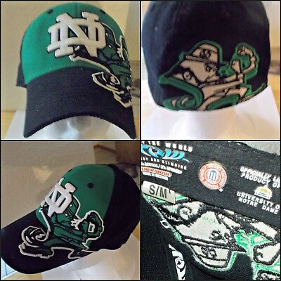 new product 7c61a 9436f Ncaa Notre Dame Fighting Irish Nd Black Flex One - Fit Fitted Hat cap M