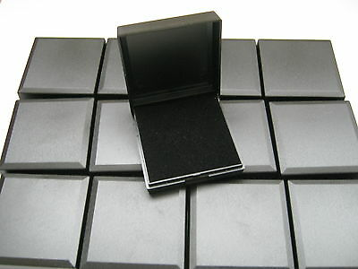 WHOLESALE 25 BLACK HINGED GIFT BOXES FOR PENDANTS, EARRINGS, NECKLACES, & More