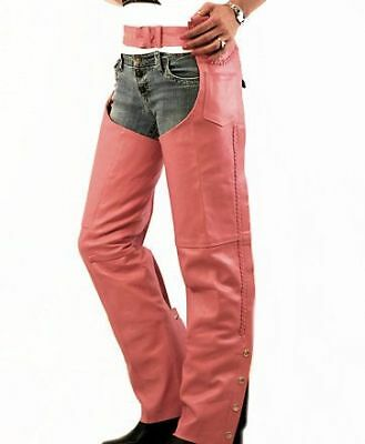 Pink Ladies Leather Chaps