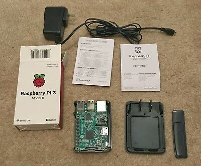 raspberry pi 3, Model B, 1gb Ram, WiFi, Bluetooth, 32gb Micro SD Card