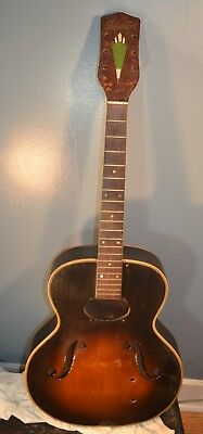 Vintage Silvertone  Archtop Guitar Need Gibson P-13 Pickup 1952 For Restoration