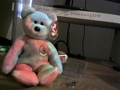 TY Beanie Baby Peace the Bear, Beanie Buddy & Sammy - excellent cond. - RETIRED