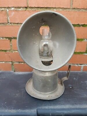 Antique Veritas (V) Hand Held Chamber Oil Lamp  inc REFLECTOR VINTAGE RETRO