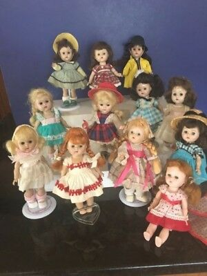 Vintage 50s Vogue Ginny Dolls Lot of 12 Dressed mixed PL & Mold Strung & SLW
