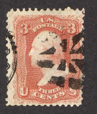 USA, 1868, Mi 18W VI, 3 cents Washington, E-grill
