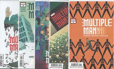 Multiple Man (2018) #1 2 3 4 5 1-5 1St Print Set Nm Marvel Comics