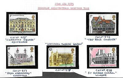 1975 European Architectural Heritage SG975/978 USED