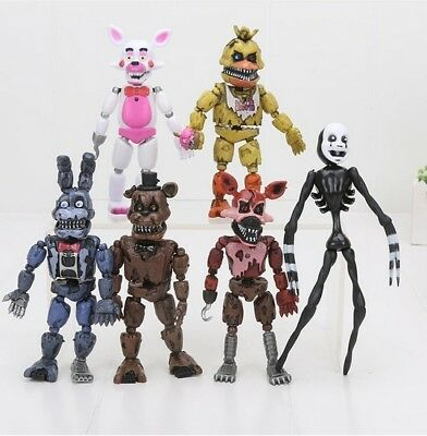 6pcs/lot FNAF Lightening Movable joints Five Nights At Freddy's Action Figure