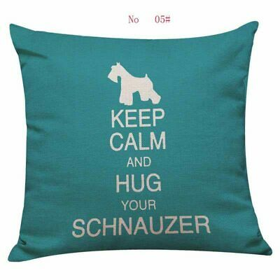 Schnauzer Gifts Cushion Cover - Funky Designs Gift Collectables Fast Dispatch