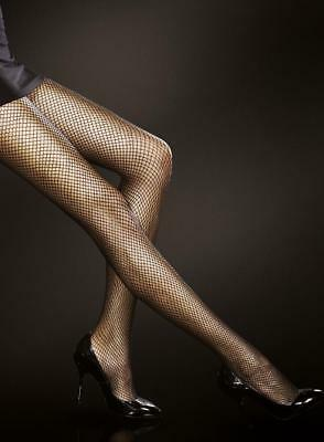 Fiore Greta Fishnet Tights Pantyhose 3 Sizes Color Is Black