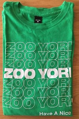 Zoo York Have A Nice Day Tee Vintage T-Shirt Size L Green Nyc Street Art Skate