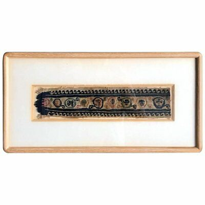 Framed Antique Coptic Textile