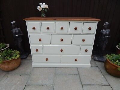 "Stunning ""upcycled"" Solid Pine Chest Of Drawers / Merchants Chest"