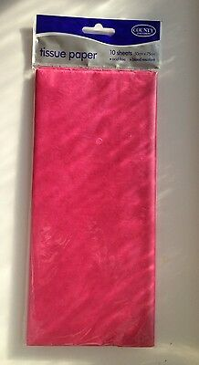 Cerise Tissue Paper 10 Sheets Acid Free 50 x 75 Bleed Resistant Hot Pink County