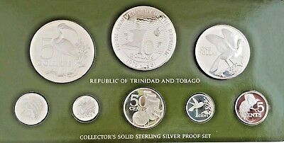 Trinidad and Tobago 1981 Silver 8 coins Proof Set only 699 sets low minted.