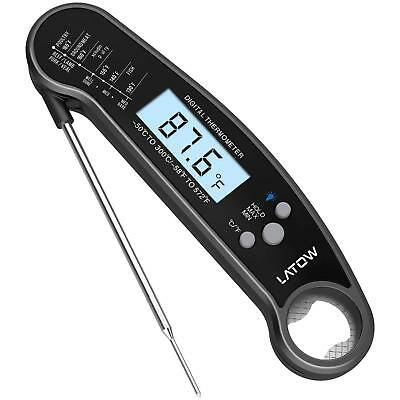 Instant Read Digital Meat Thermometer Waterproof BBQ Kitchen with Bottle Opener