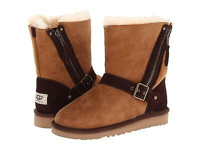 Ugg Australia Girls Kids Youth Classic Blaise Boots Chestnut 4 Y New