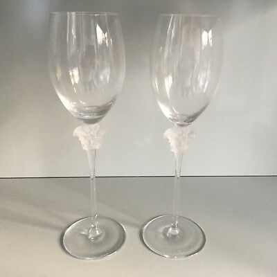 c0a6b67c5d1 ROSENTHAL VERSACE WHITE Wine Glasses Medusa Lumiere . NEW. -  299.00 ...