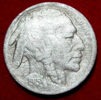 1915 S  BUFFALO NICKEL VF Details RB2567  49 cent Free Shipping on 3 or more