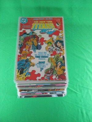 Lot of 34 DC Comics New Teen Titans No. 15-40,42-49 1985-1988 (NM-) Comic Books