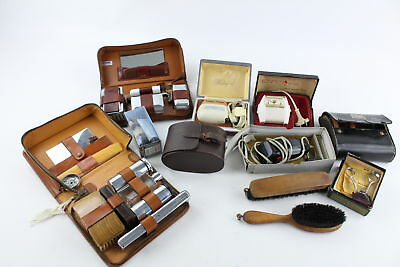 Job Lot of Assorted Vintage Gents GROOMING Accessories Inc. Razors, Travel Sets