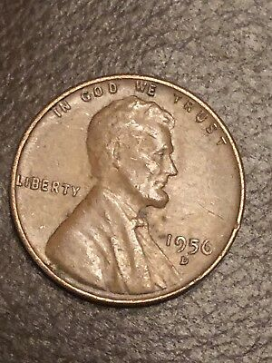1956 D/D LINCOLN wheat cent penny error double mint mark Nice Coin You  Decide