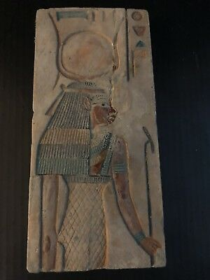 Rare Ancient Egyptian Isis Limestone   Relief (m. 36 BC-30 BC)