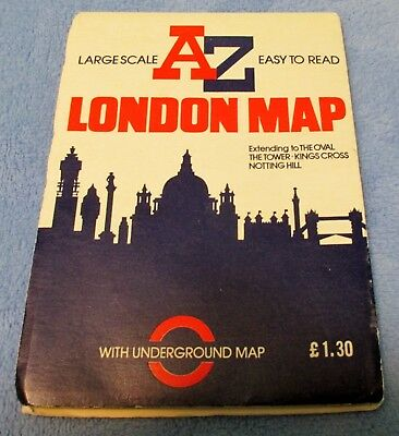 Vintage Large Scale A to Z LONDON MAP 1985 Excellent Condition