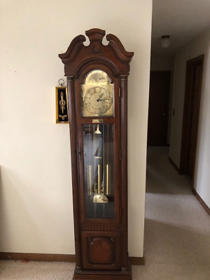 Pearl Weight Driven Grandfather Clock