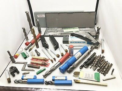 """Lot Of Machinist Tools, 12"""" Vernier Caliper, Micrometer, Indexable Tool Holders"""
