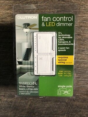 LUTRON MAESTRO FAN CONTROL and Light Dimmer for dimmable ... on