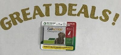 CapAction 57.0 mg Nitenpyram For Dogs over 25 lbs Flea Treatment Exp 04/2021