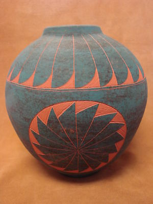 Native American Acoma Indian Pottery Hand Painted Pot by JS Lewis! PT0200