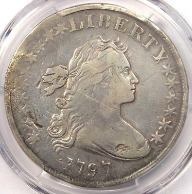1797 Draped Bust Small Eagle Silver Dollar $1 - PCGS Fine Details - Rare Coin!