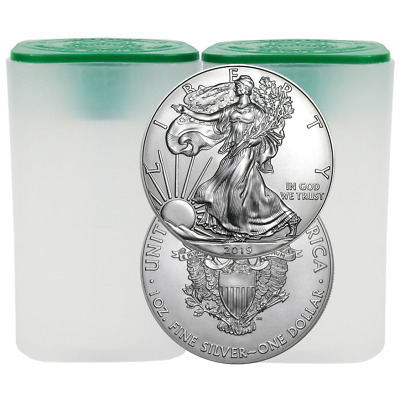 Lot of 40 - 2019 $1 American Silver Eagle 1 oz Brilliant Uncirculated 2 Full Rol