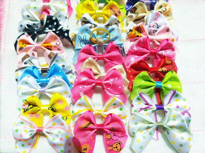 50Pcs Pet Cat Dog Hair Bows Rubber Bands hair  Grooming Accessories