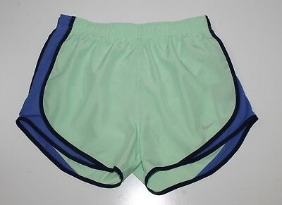 NEW  Womens NIKE Dri-Fit Sz Med M Mint Green Blue Tempo Running Athletic Shorts