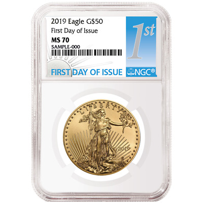 2019 $50 American Gold Eagle 1 oz. NGC MS70 FDI First Label