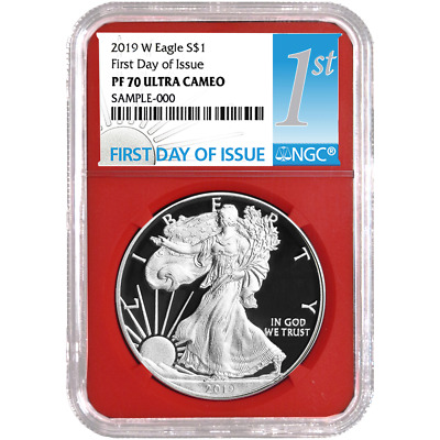 2019-W Proof $1 American Silver Eagle NGC PF70UC FDI First Label Red Core