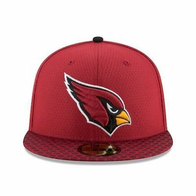New Era Arizona Cardinals 59Fifty On Field Sideline Fitted Hat Red Size 7 3  8 ca66d0c05